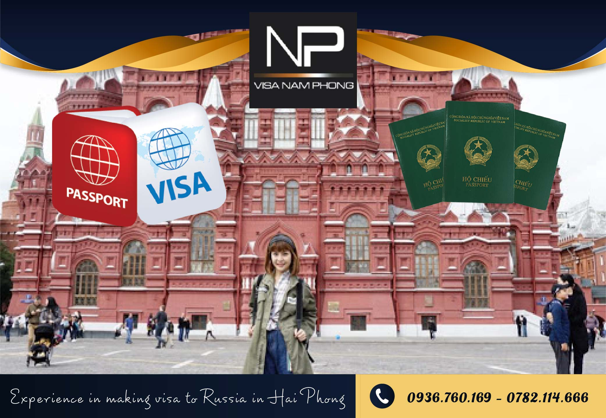 Experience in making visa to Russia in Hai Phong