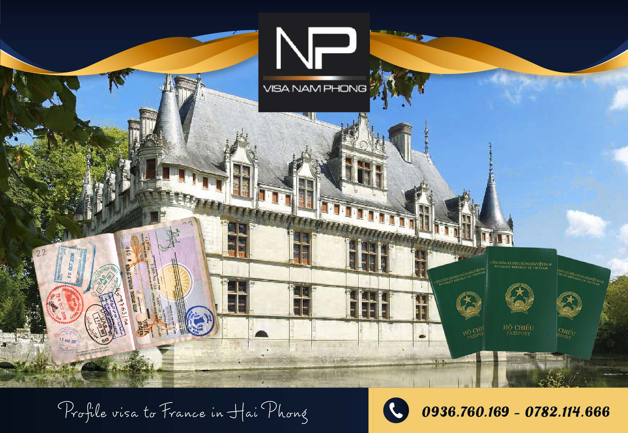 Profile visa to France in Hai Phong