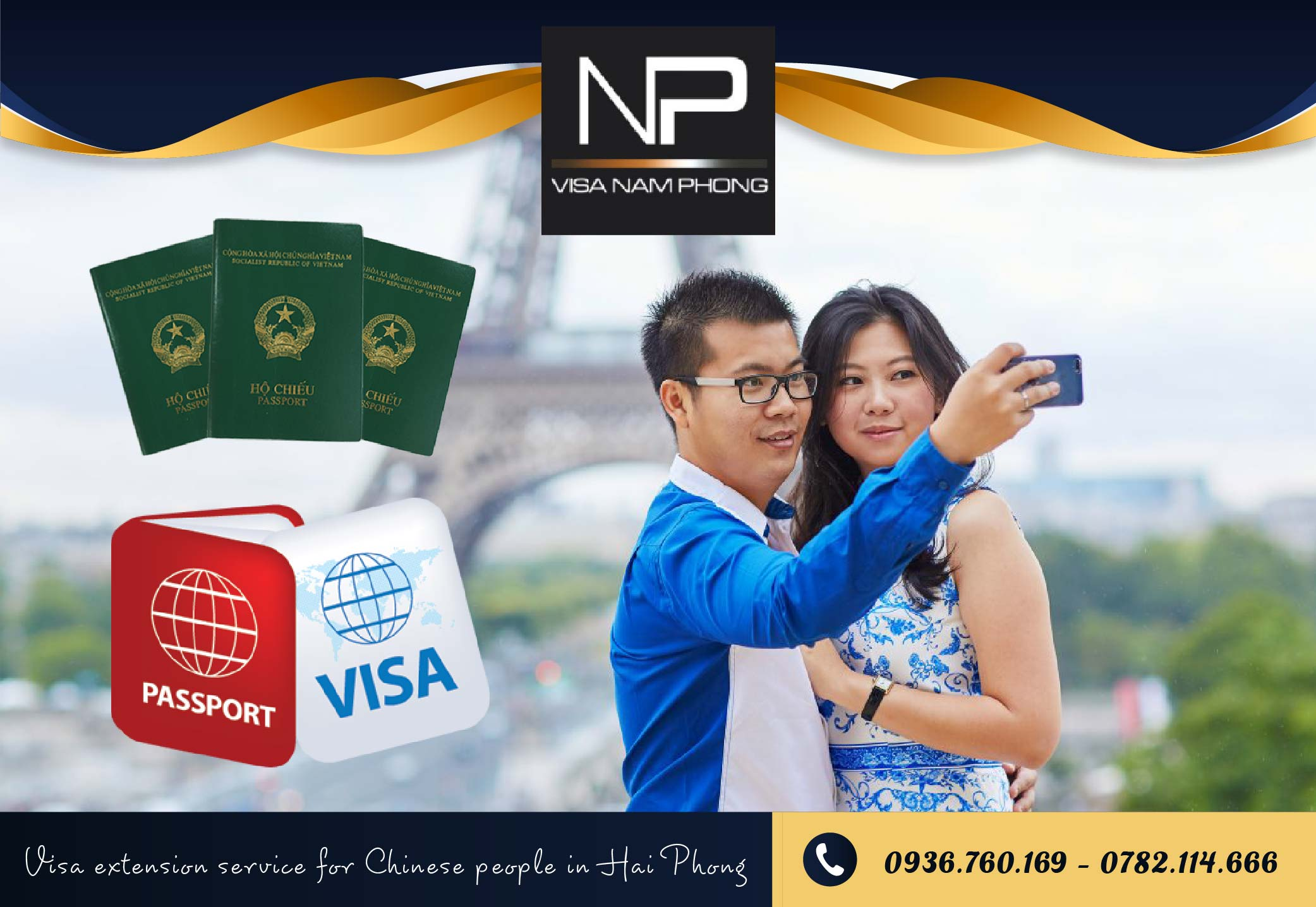 Visa extension service for Chinese people in Hai Phong